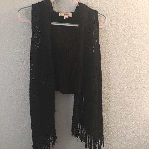 Decree Jackets & Blazers - Black hooded vest